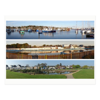 Lymington coast panoramas postcard