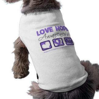 Lymphogranulomatose maligne de conscience d'espoir vêtements pour chien