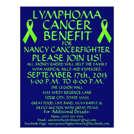 Lymphoma Cancer Fighter Benefit Flyer