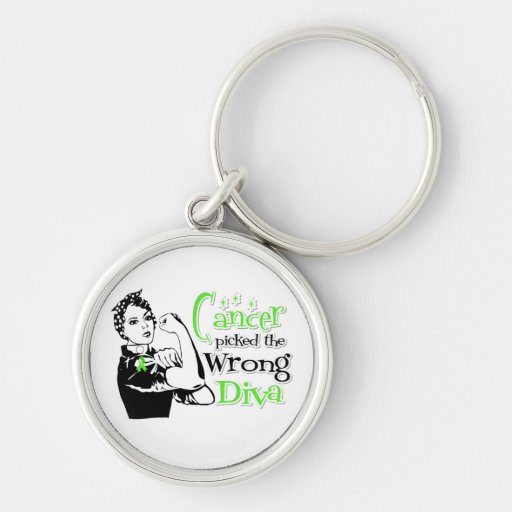 Lymphoma Cancer Picked The Wrong Diva Keychains