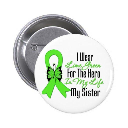 Lymphoma Cancer Ribbon My Hero My Sister Pins