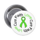 LYMPHOMA Faith Love Cure Pinback Buttons