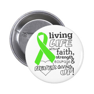 Lymphoma Living Life With Faith 2 Inch Round Button