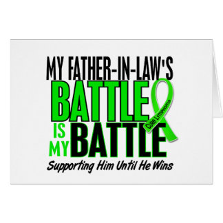 Lymphoma My Battle Too 1 Father-In-Law Greeting Card