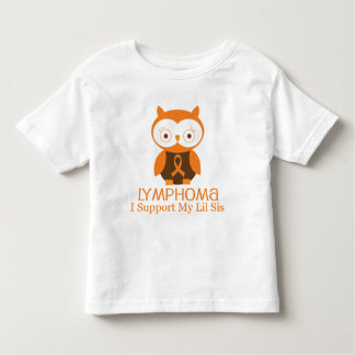 Lymphoma Orange Ribbon Awareness Lil Sis Shirt