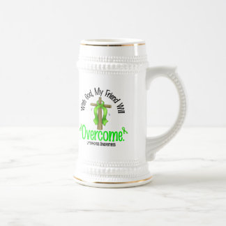 Lymphoma With God My Friend Will Overcome 18 Oz Beer Stein