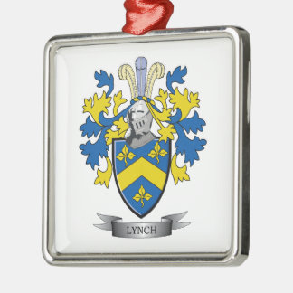 Lynch Coat of Arms Metal Ornament