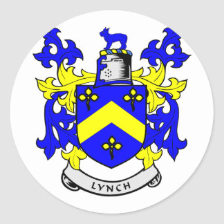 LYNCH Coat of Arms Round Sticker