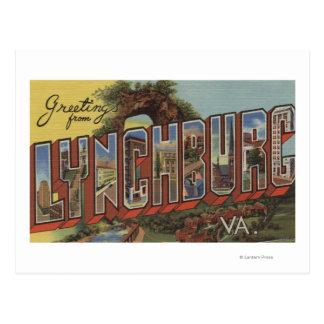 Lynchburg, Virginia - Large Letter Scenes Postcard