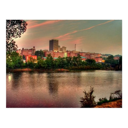 Lynchburg Virginia river scene Postcard