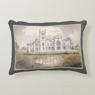 Lyndhurst Mansion Watercolor Elegant Architecture Decorative Pillow