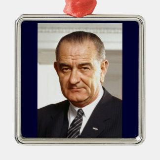 Lyndon B. Johnson 36th President Metal Ornament