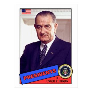 Lyndon B. Johnson Baseball Card Postcard