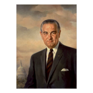 Lyndon Johnson Official Portrait Poster