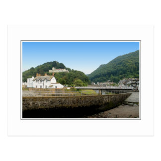 Lynmouth and Hills. Postcard