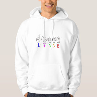 LYNNE FINGERSPELLED ASL NAME SIGN DEAF HOODIE
