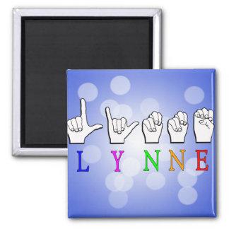 LYNNE FINGERSPELLED ASL NAME SIGN DEAF MAGNET