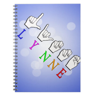 LYNNE FINGERSPELLED ASL NAME SIGN DEAF NOTEBOOK
