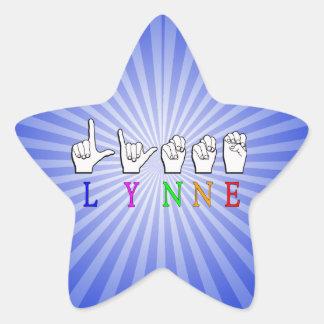 LYNNE FINGERSPELLED ASL NAME SIGN DEAF STAR STICKER