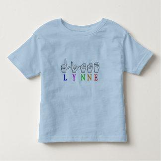 LYNNE FINGERSPELLED ASL NAME SIGN DEAF TODDLER T-SHIRT
