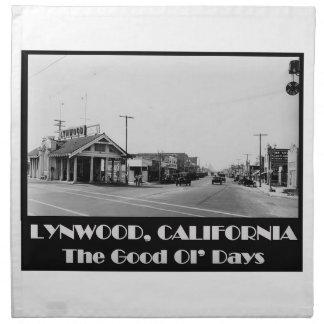 Lynwood California Back When Napkin