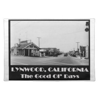Lynwood California Back When Placemat