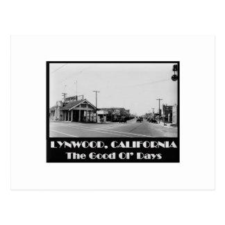 Lynwood California Back When Postcard