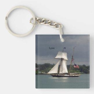 Lynx acrylic key chain