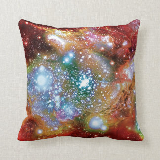 Lynx Arc Starbirth Star Cluster Artist Impression Throw Pillow