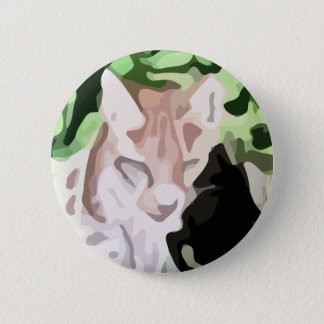 lynx cat painting 2 inch round button