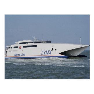 Lynx, catamaran, ferry postcard