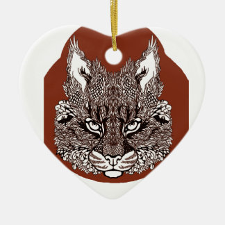 Lynx Ceramic Ornament