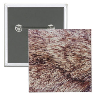 Lynx fur 2 inch square button