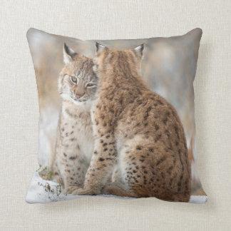 Lynx love throw pillow