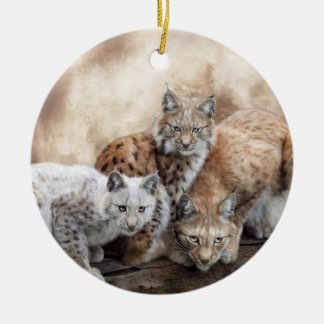 Lynx Moon Holiday Ornament