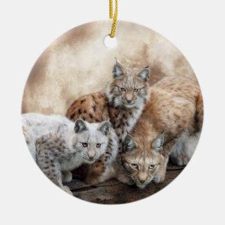 Lynx Moon Holiday Ornament
