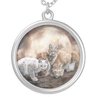 Lynx Moon Wearable Art Necklace