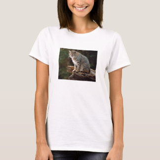 Lynx on log T-Shirt