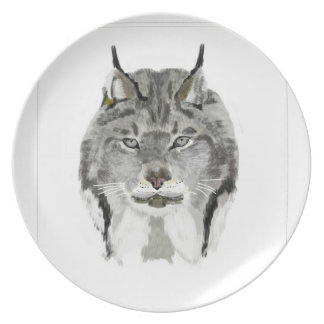 lynx party plate