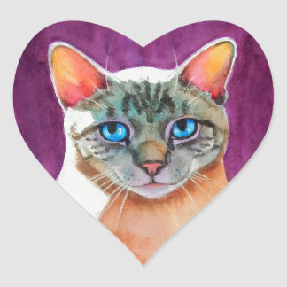 Lynx Point Siamese Cat at Kitty Angels Heart Sticker