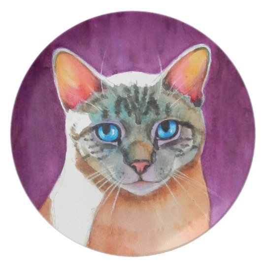 Lynx Point Siamese Cat at Kitty Angels Plate