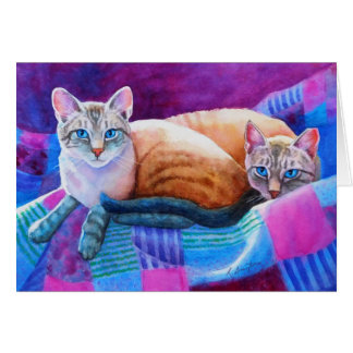 Lynx Point Siamese Cats Greeting Card