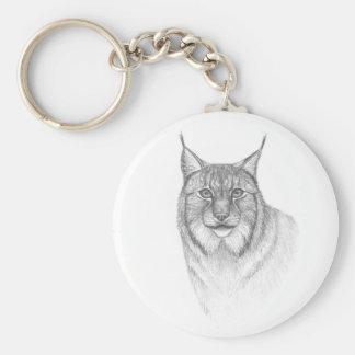 Lynx round keychain