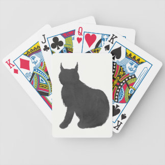Lynx Silhouette Bicycle Playing Cards