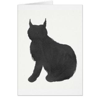 Lynx Silhouette Card