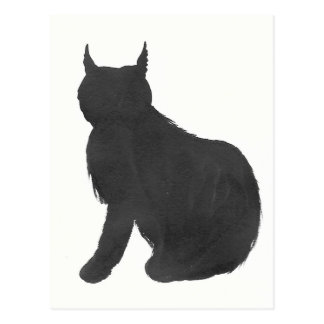Lynx Silhouette Postcard