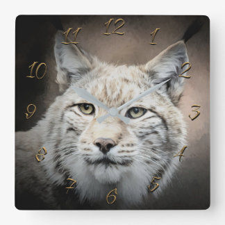 Lynx Square Wall Clock