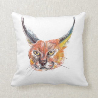 Lynxs Portrait Throw Cushion