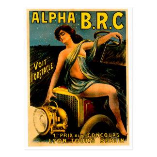 Lyon Berlin Auto Tours ~ Vintage Automobile Ad Postcard
