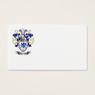 Lyon Family Crest Coat of Arms Business Card